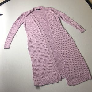 Lavender long cardigan small